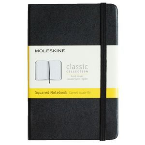 Moleskine Classic Hard Cover Pocket Notebook Squared Black