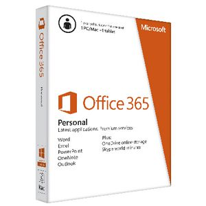 Microsoft Office 365 Personal (1 PC/Mac and 1 Tablet)1 year