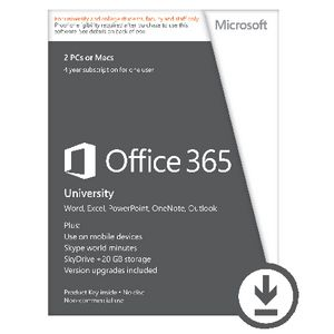Microsoft Office 365 University 2 Users 48 Months Download