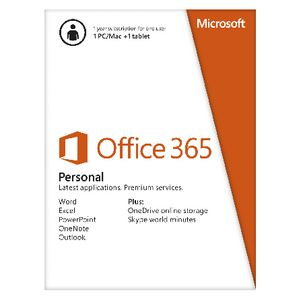 Microsoft Office 365 Personal 1 User 12 Months Card