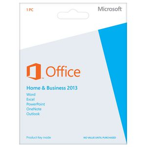 Microsoft Office Home and Business 2013 1 PC Product Key Card