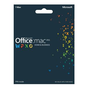 Microsoft Office Home & Business 2011 for 1 Mac - Product Key Card
