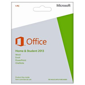 Microsoft Office Home & Student 2013 1 PC Product Key Card
