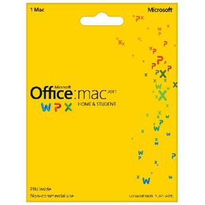 Microsoft Office Home & Student 2011 1 Mac Card