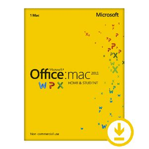 Microsoft Office Home & Student 2011 1 Mac Download