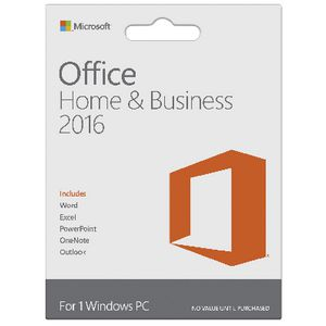 Microsoft Office Home and Business 2016 1 PC Card