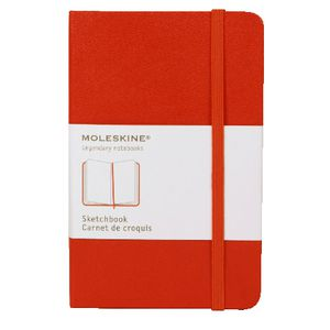 Moleskine Classic Hard Cover Plain Pocket Sketchbook Red