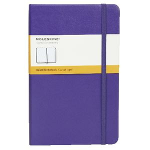 Moleskine Classic Hard Cover Ruled Large Notebook Violet