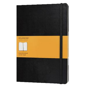 Moleskine Classic Hard Cover Extra Large Notebook Ruled Black