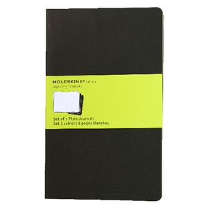 Moleskine Cahier Plain Notebooks Large Black 3 Pack