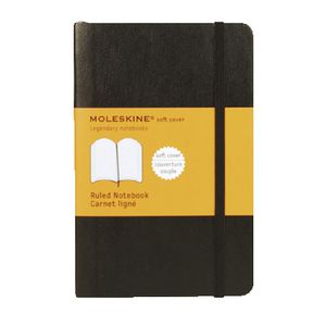 Moleskine Classic Soft Cover Pocket Notebook Ruled Black