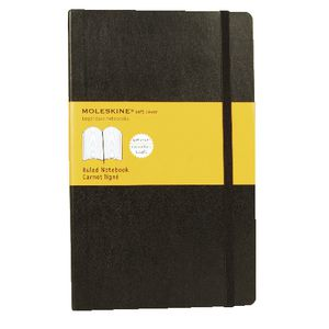 Moleskine Classic Soft Cover Ruled Large Notebook Black