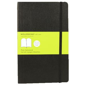 Moleskine Classic Soft Cover Plain Large Notebook Black