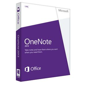 Microsoft OneNote 2013 Notes Software for 1 PC