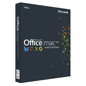 Microsoft Office Home & Business 2011 1 Mac Box