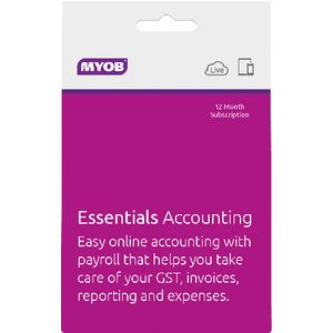 MYOB Accounting Essentials with Payroll 12 Months Card
