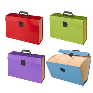 Foolscap Expanding File 19 Pockets Assorted Colours