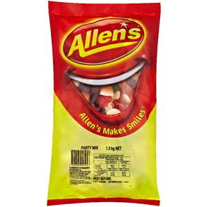 Allen's Party Mix Lollies 1.3kg Bag