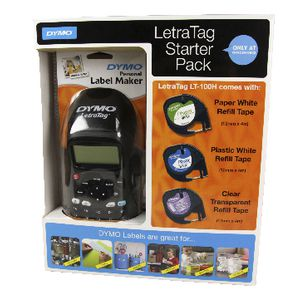 Dymo LetraTag LT-100H Black Labeller and Starter Pack