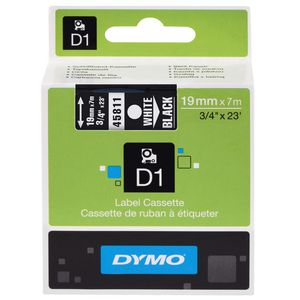 DYMO D1 Label Printer Tape 19mm x 7m White on Black