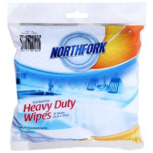 Northfork Antibacterial Cloths Blue 10 Pack