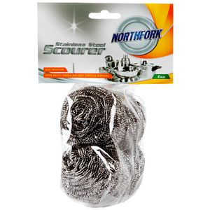 Northfork Stainless Steel Scourer 4 Pack
