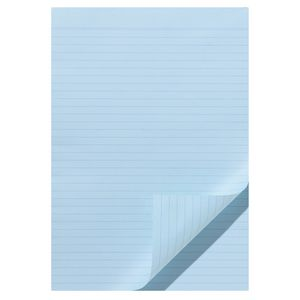 Note Ruled Notepad Blue