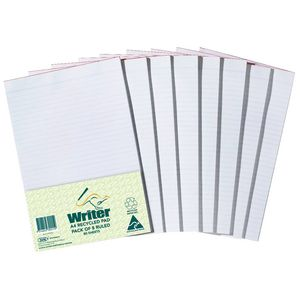 Writer A4 Recycled Pad 8 Pack