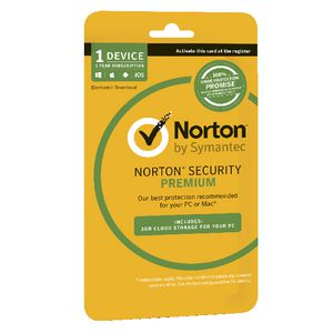 Norton Security Premium 1 Device 12 Months Card