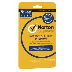Norton Security Premium 5 Devices 12 Months Card