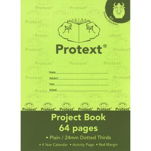 Protext Exercise Book 24mm Dotted Thirds 64 Page Green