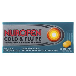 Nurofen Cold and Flu PE Tablets 12 Pack