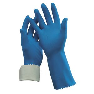 Oates Rubber Gloves Blue Size 7