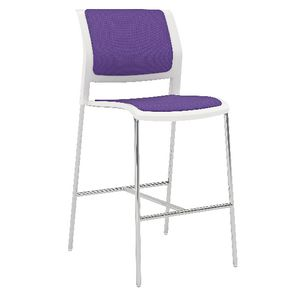 OLG Game 4 Leg Barstool Fully Upholstered Plum