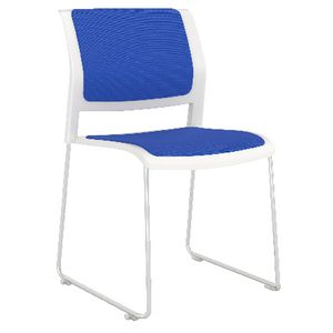 OLG Game Sled Based Chair Fully Upholstered Sky Blue