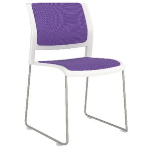 OLG Game Sled Based Chair Fully Upholstered Plum