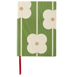 Orla Kiely A5 Notebook 240 Page Flower Abacus Green