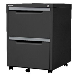 Steelco 2 Drawer Mobile Pedestal  Graphite Ripple