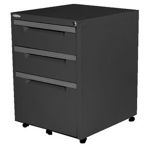 Steelco 3 Drawer Mobile Pedestal Graphite