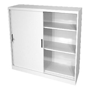 Steelco Steel Sliding Door Cupboard 1320 x 1500mm White