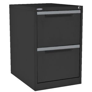 Steelco 2 Drawer Filing Cabinet Graphite Ripple