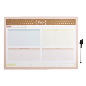 A3 Dry Erase Daily Planner with Marker Natural