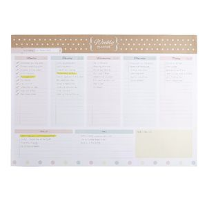 A3 Weekly Planner 40 Sheets Natural