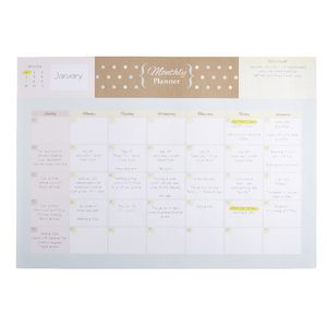 A3 Undated Monthly Planner 12 Sheets Natural