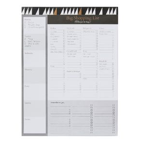 B5 Shopping List 52 Sheets Modern