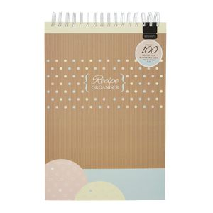 Stand Up Recipe Organiser A4 with Subject Dividers 100 Sleeve