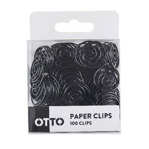 Otto Brights Paperclips 100 Pack Black