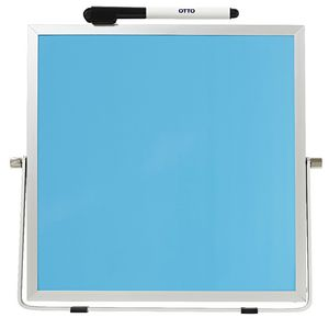 Otto Double Sided Desktop Whiteboard Blue