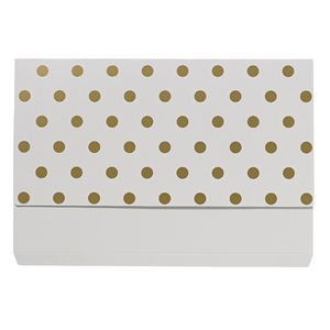 Otto A4 Manilla Document Wallet White with Gold Foil Spots