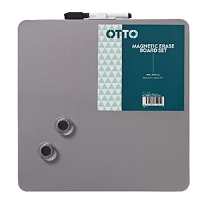 Otto Magnetic Erase Board Set Silver